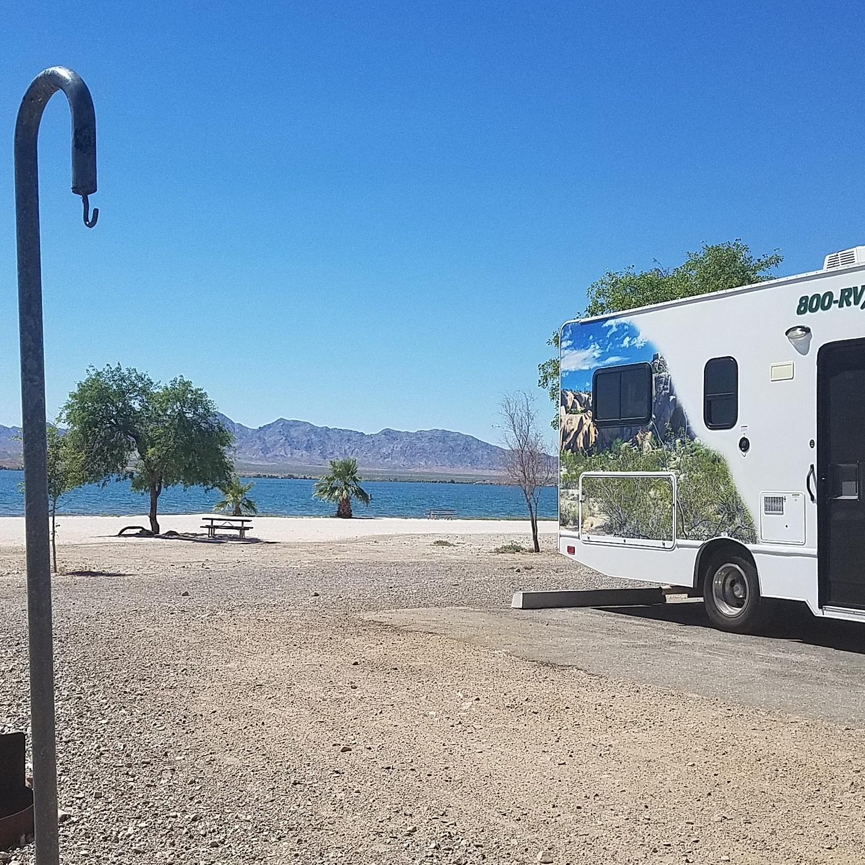 Beautiful Lake Havasu, AZ in a class C 25' RV from CruiseAmerica.com